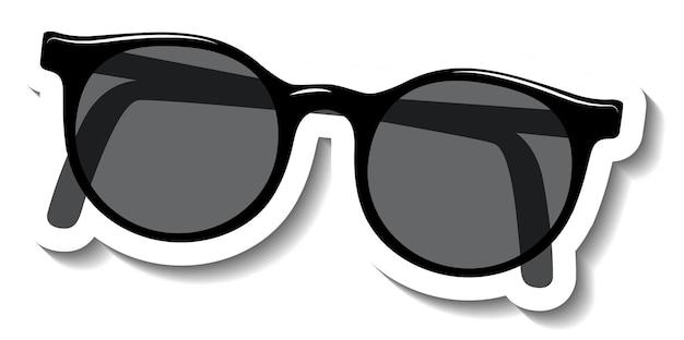Schwarze sonnenbrille auf weißem hintergrund