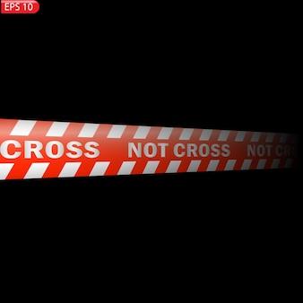 Schwarze und farbige warnlinien isoliert realistische warnbänder gefahrenzeichen