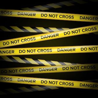 Schwarze und gelbe linien.