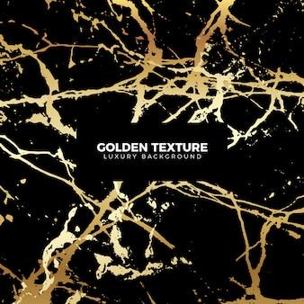 Schwarze und goldene marmor textur