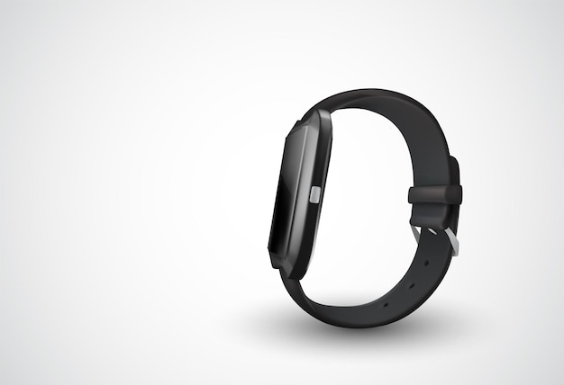 Schwarze vektor-smartwatch auf weißem hintergrund