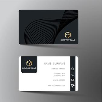 Schwarze visitenkarte