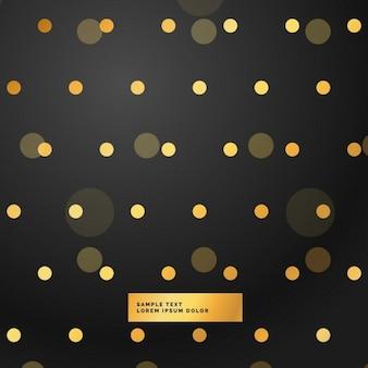 Schwarzem hintergrund mit goldenen tupfen