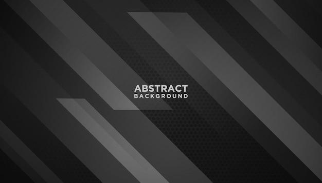 Schwarzer abstrakter geometrischer hintergrund