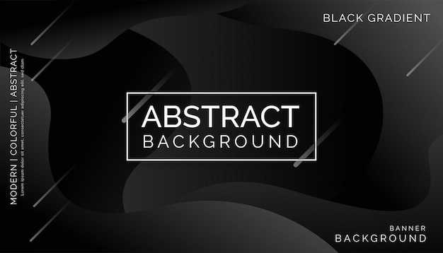 Schwarzer abstrakter hintergrund, modernes buntes dynamisches design