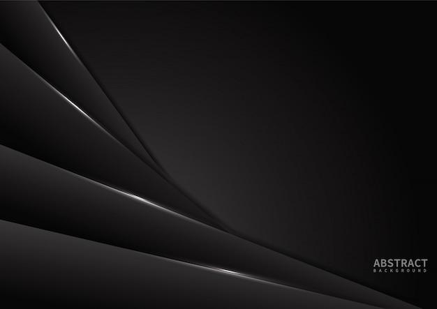 Schwarzer abstrakter hintergrundüberschneidungs-papierschichtraum für design
