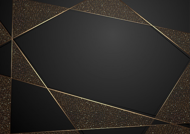 Schwarzer abstrakter luxushintergrund