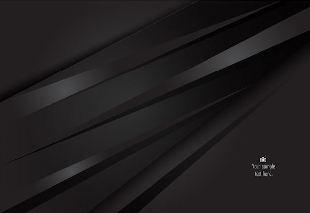 Schwarzer abstrakter materieller designhintergrund