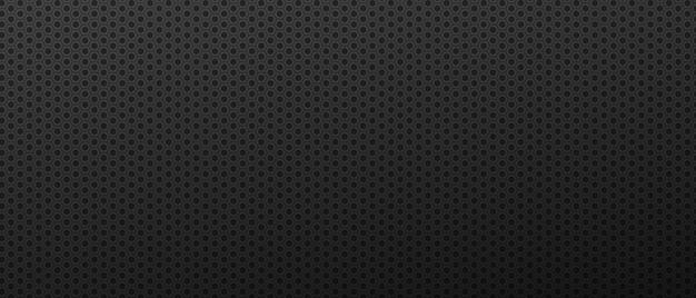 Schwarzer abstrakter sechseck-nuss-hintergrund futuristische carbon-zahnräder mit techno-ornament-muster