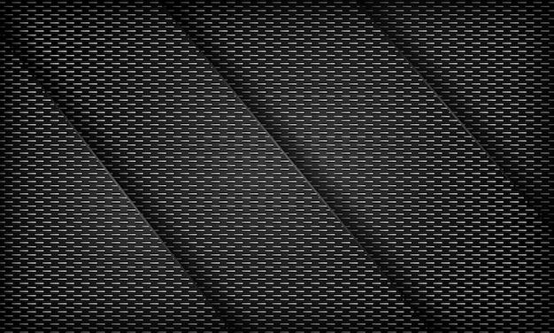 Schwarzer abstrakter überlappungshintergrund mit streifenstruktur moderne corporate design-vorlage