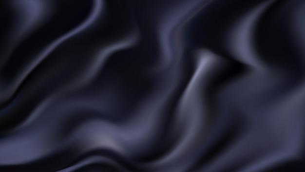 Schwarzer abstrakter wellenförmiger hintergrund mit glatter wellenförmiger struktur