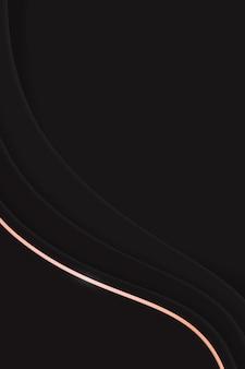 Schwarzer abstrakter welliger hintergrund