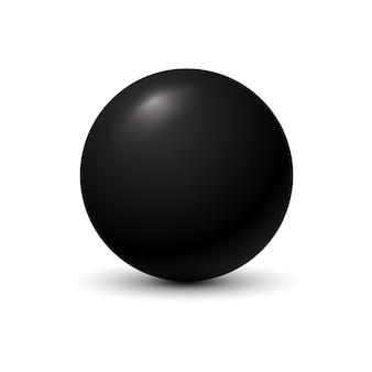 Schwarzer ball auf weiß