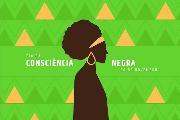 Schwarzer bewusstseinstag im flachen design