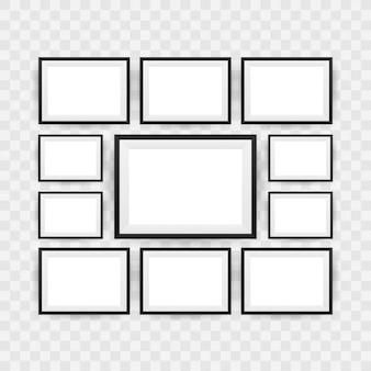 Schwarzer bilderrahmen getrennt.