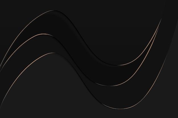 Schwarzer desktop-hintergrund, moderner tapetendesignvektor