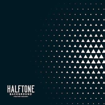 Schwarzer dreieck halbton vektor hintergrund