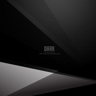 Schwarzer dunkler hintergrund mit geometrischer grauer form