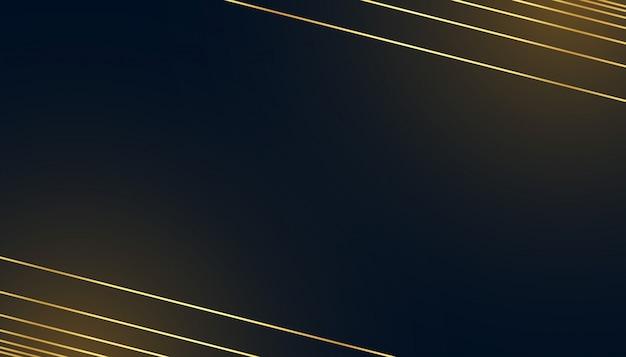 Schwarzer dunkler hintergrund mit goldenen linien