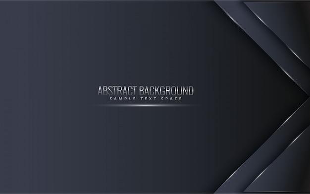 Schwarzer erstklassiger hintergrund mit luxuxdunkelheit. luxus silber platin linien vektor.