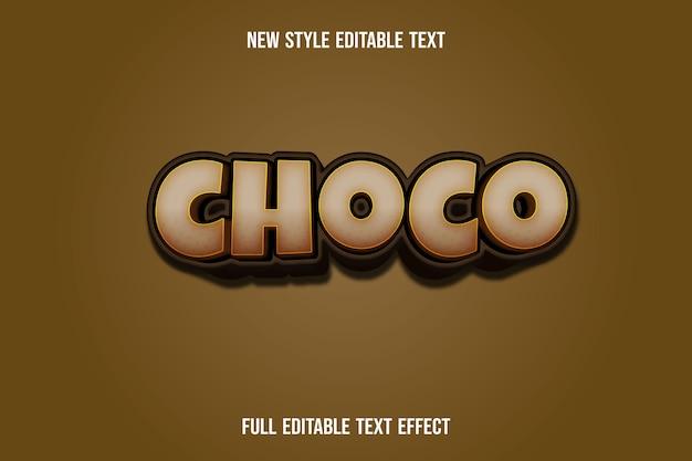 Schwarzer farbverlauf des texteffekts 3d choco color