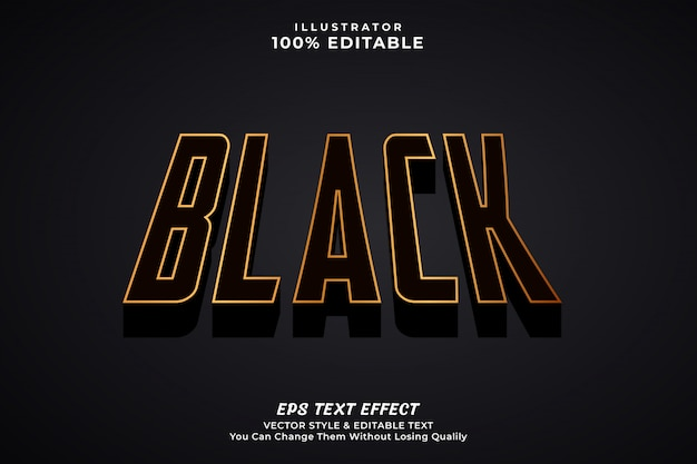 Schwarzer fetter texteffekt