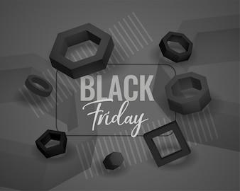 Schwarzer Freitag abstrakter geometrischer Formhintergrund