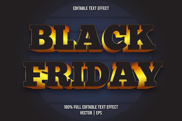 Schwarzer freitag bearbeitbarer texteffekt retro-stil