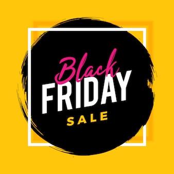 Schwarzer freitag-bürstenfahnenverkauf auf gelb