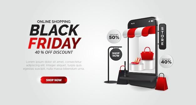 Schwarzer freitag design für produktwerbung