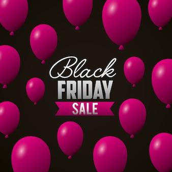 Schwarzer freitag-einkaufsverkaufshintergrund