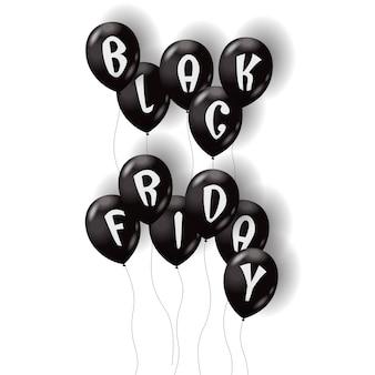 Schwarzer freitag luftballons