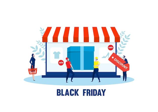 Schwarzer freitag online-shopping. laptop-shop, e-commerce, taschenkauf online-e-commerce, marketing-kauf,