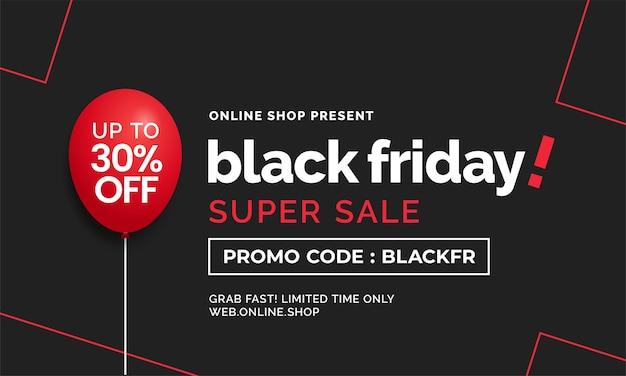 Schwarzer freitag superverkauf einfaches social media web banner vorlage design mit abstrakter linie