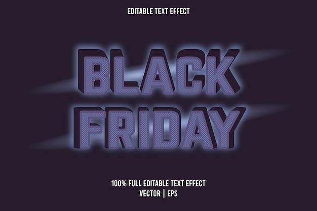 Schwarzer freitag texteffekt blau und lila farbe