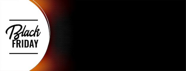 Schwarzer freitag-verkaufsbanner mit textraumdesign