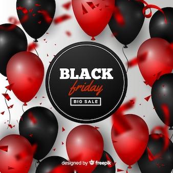 Schwarzer freitag-verkaufshintergrund mit ballonen