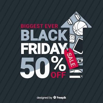 Schwarzer Freitag-Verkaufshintergrund mit Pfeil