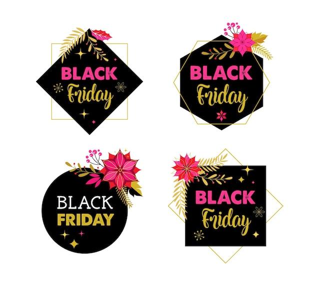 Schwarzer freitag, weihnachtsverkaufsfahne, plakatschablone
