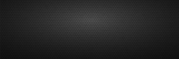 Schwarzer gekerbter abstrakter hintergrund. geometrische carbonfliesen mit scharfen ecken reihen metallklingen für minimalistische säge