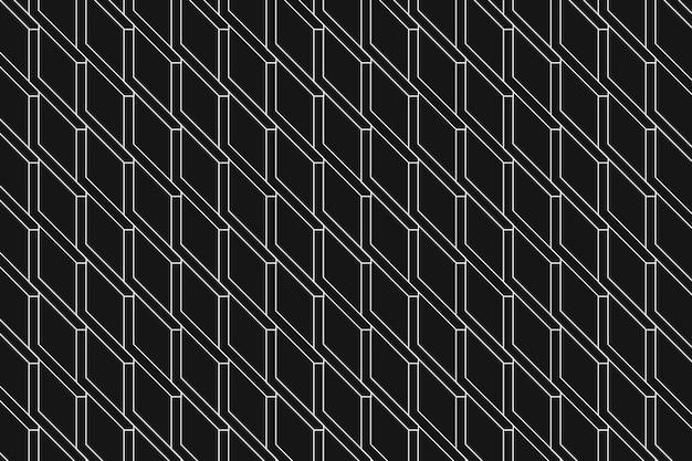 Schwarzer geometrischer hintergrund, abstrakter vektor des einfachen designs des musters