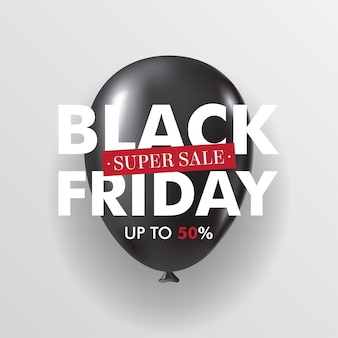 Schwarzer glänzender schwarzer ballon des freitag-verkaufs