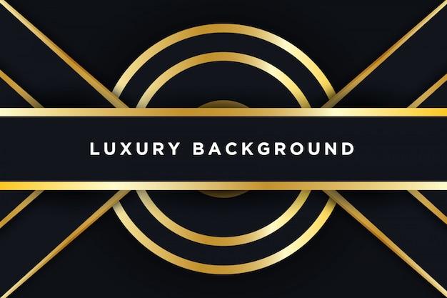 Schwarzer goldener luxushintergrund 3d