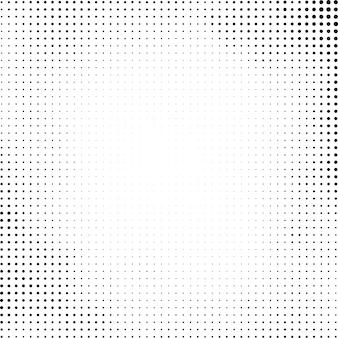 Schwarzer halbtonentwurf auf weißem hintergrund