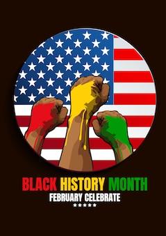 Schwarzer hintergrund des geschichtsmonats