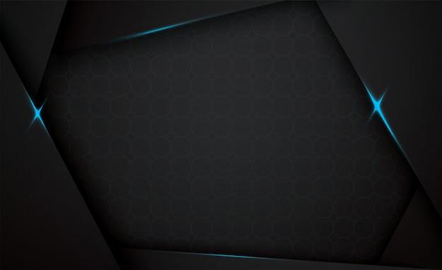 Schwarzer hintergrund des kreisglühens 3d