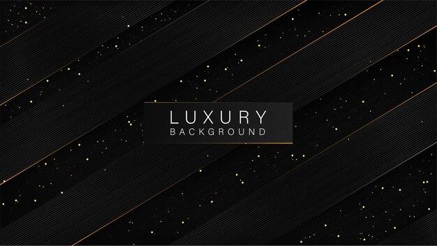 Schwarzer hintergrund des luxusstils