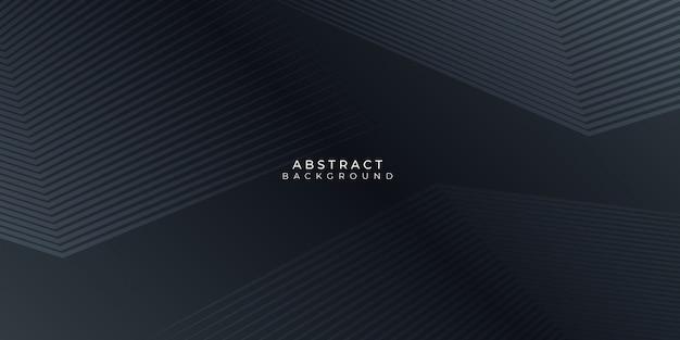 Schwarzer hintergrund mit abstrakten linien stipes modern