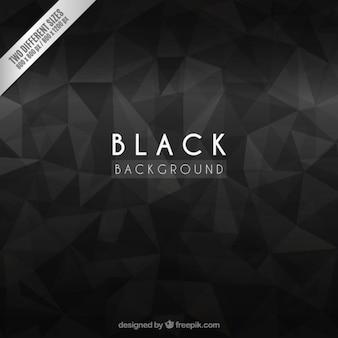 Schwarzer hintergrund mit abstrakten polygone