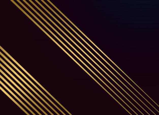 Schwarzer hintergrund mit goldenen linien